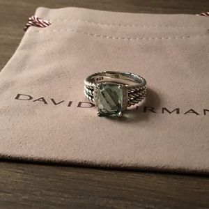 David Yurman Wheaton Petite Prasolite Diamond Ring